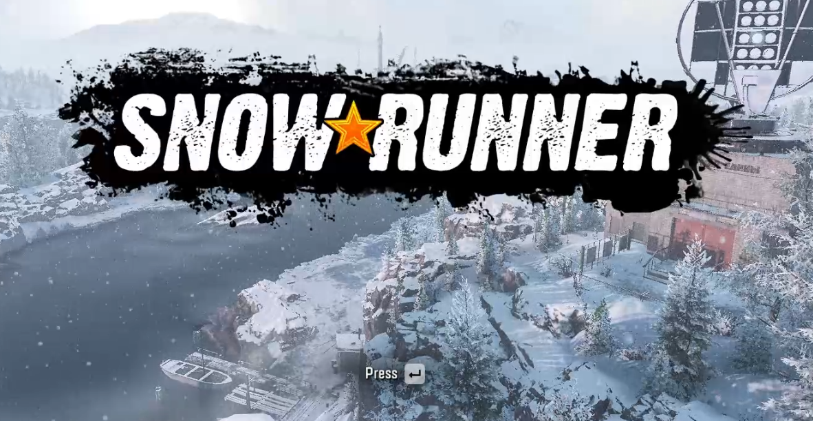 picture of the snowrunner game start screen